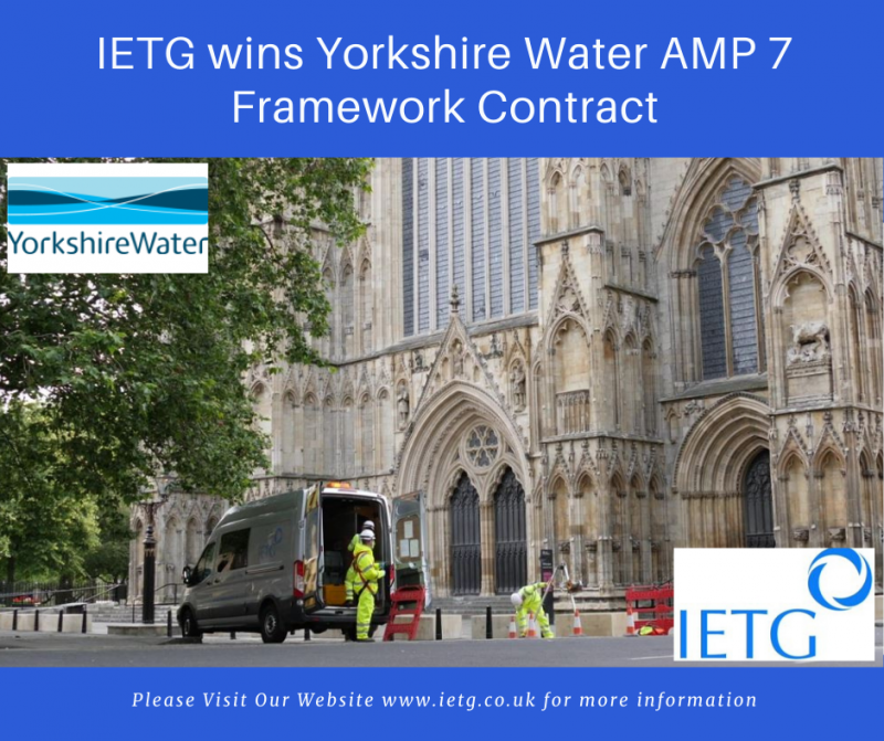 IETG Wins Yorkshire Water AMP7 Framework Contract